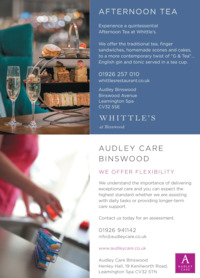 Audley Binswood Ltd Advert