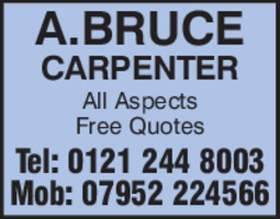 A Bruce Carpenter Advert