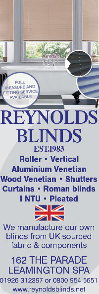 Reynolds Blinds (Leamington Spa) Ltd Advert