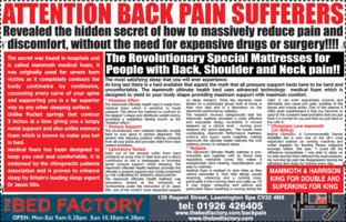 The Bed Factory (Leamington) Ltd Advert