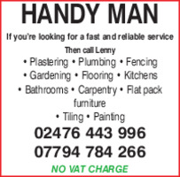The Handyman Advert