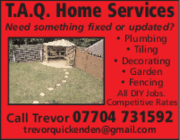 T.A.Q Home Services Advert