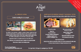 The Angel Hotel Advert