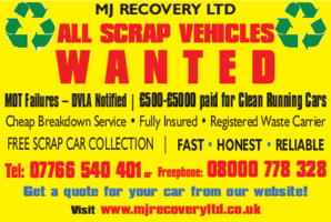 MJ Recovery Ltd Advert