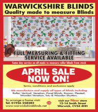 Warwickshire Blinds Advert