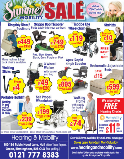 Hearing & Mobility Advert