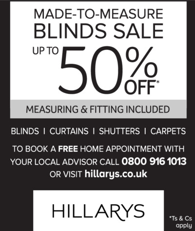 Hillarys Blinds Advert