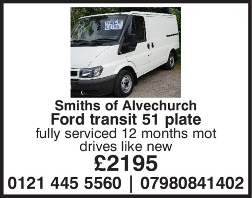 Smiths Of Alvechurch Advert