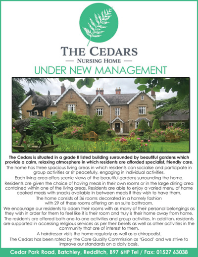 Cedars Nursing Home Advert