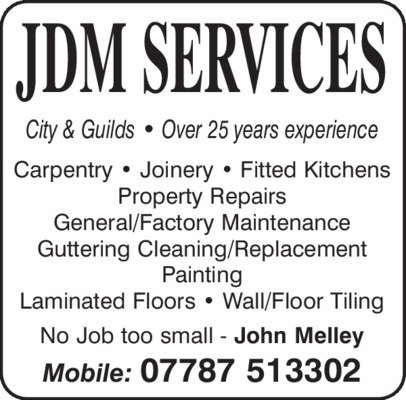 Jdm Services Advert