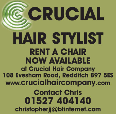 Mr C J Jackson t/a Crucial Hair Co. Advert