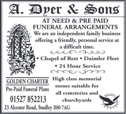 A Dyer & Son Advert