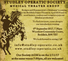 Studley Operatic Society Advert