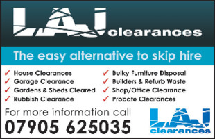 L A J Clearances Advert