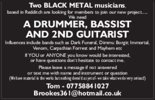 Mr Tom Brookes Advert
