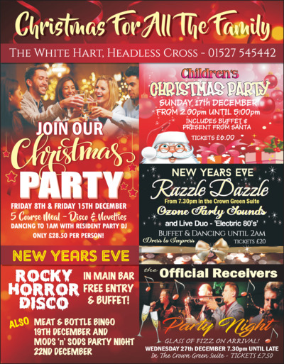 White Hart Leisure (Redditch) Ltd Advert