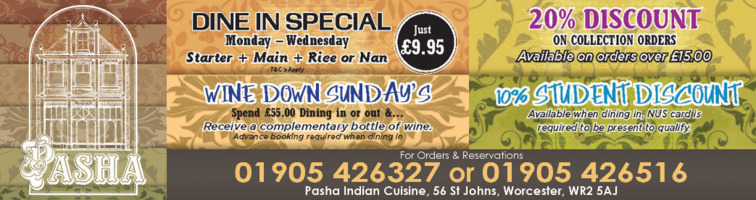 Pasha Tandoori Advert