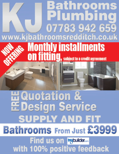 Kj Bathrooms And Plumbing Advert