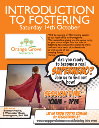 Orange Grove Fostercare Advert