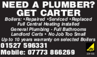 Carter Plumbing Advert