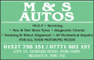 M & S Autos Advert