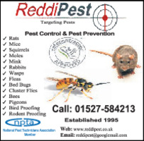 Redditch Pest Control Advert