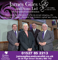 James Giles Studley Ltd Advert