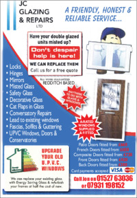 J C Glazing Repairs Advert