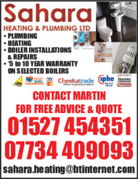 Sahara Heating & Plumbing Ltd Advert
