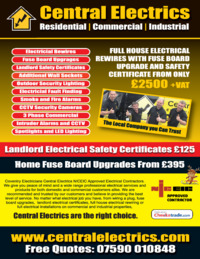 Central Electrics Advert