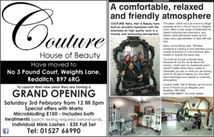 Couture Nails Hair & Beauty Advert