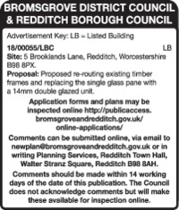 Redditch Borough Council Advert