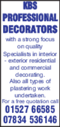 Kbs Professional Decorators Advert