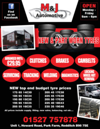 M & J Automotive Ltd Advert