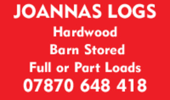 Joannas Logs Advert
