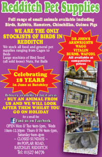 Redditch Pet Supplies Advert