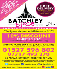 Batchley Spice Advert