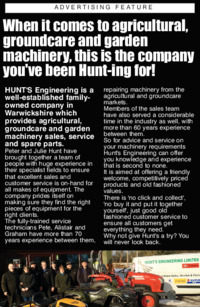 Hunts Engineering Ltd Advert