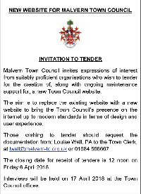 Malvern Town Council Advert