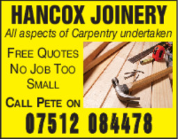 Hancock Joinery Advert