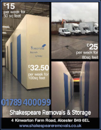 Shakespeare Removals Advert