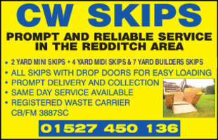 C W Skips Advert