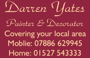 Darren Yates Painter & Decorator Advert