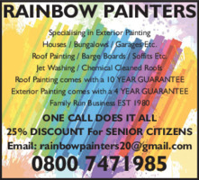 Rainbow Painters Advert
