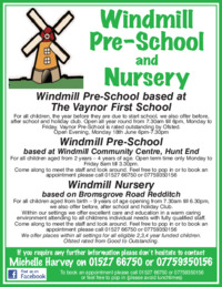 Windmill Pre School Midlands Ltd Advert