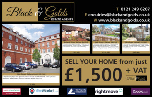 Black And Golds Estate Agent Advert