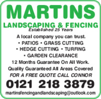 Martins Landscaping Advert