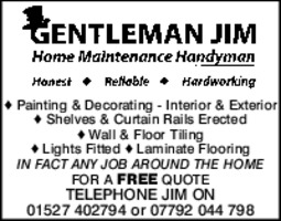 Gentleman Jim Advert