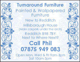Turnaround Furniture Advert