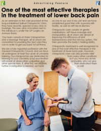 Solihull Chiropractic Clinic Advert